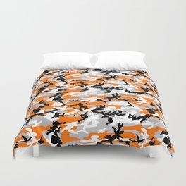 Orange Camouflage Pattern Duvet Cover