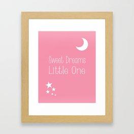 Nursery wall art in pink Framed Art Print