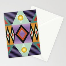 Print bright colorfull geometry Stationery Cards