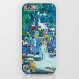 African American Masterpiece, Sudan, African Marketplace portrait painting by Jacques Majorelle iPhone Case