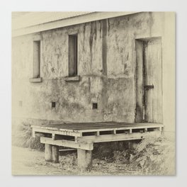 Antique plate style old loading dock Canvas Print