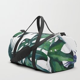 Tropical Palm Leaves Classic on Marble Duffle Bag