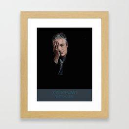 Jon Stewart Framed Art Print