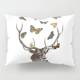 The Stag and Butterflies Pillow Sham