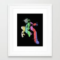 flcl Framed Art Prints featuring Canti - Glitch by crimm-art