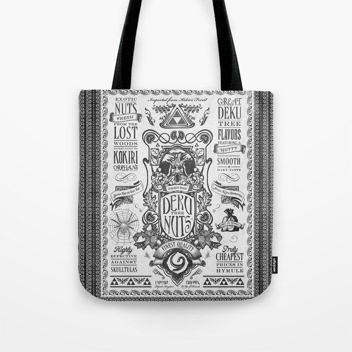 Legend of Zelda inspired Deku Nuts Vintage Advertisement Tote Bag