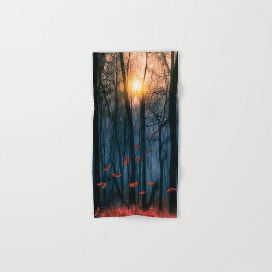 Red feather dance  (colour option) Hand & Bath Towel