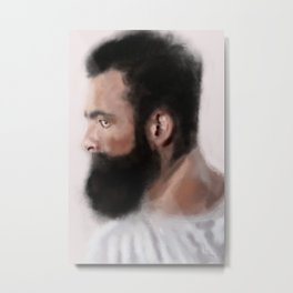 Bearded man Metal Print