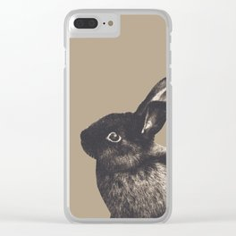 Little Rabbit on Sepia #1 #decor #art #society6 Clear iPhone Case