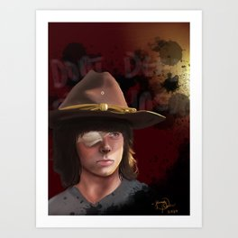 Carl- The Walking Dead Art Print