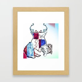 The Fight is on!! Framed Art Print
