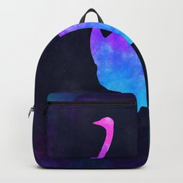 OSTRICH IN SPACE // Animal Graphic Art // Watercolor Canvas Painting // Modern Minimal Cute Backpack
