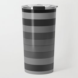 Black and Gray Stripes Travel Mug