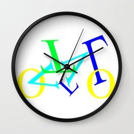 bicycle letters Wall Clock
