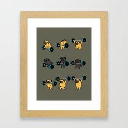 OLYMPIC LIFTING PUG Framed Art Print