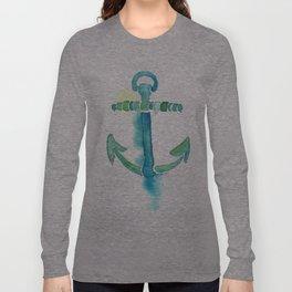 Watercolor Anchor Long Sleeve T-shirt