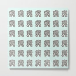 Ancient Golem Mythical Mythology Color Pattern Metal Print
