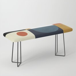 mid century abstract shapes fall winter 4 Bench