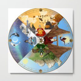 Cycle of the Seasons Metal Print