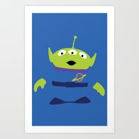 toy story Art Prints featuring Toy Story Alien by TracingHorses