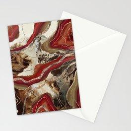 Liquid Marble Agate Glitter Glam #2 (Faux Glitter) #decor #art #society6 Stationery Cards