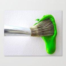 Drip Green Paint Canvas Print