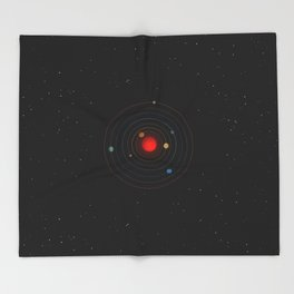 Trappist-1 Is Very Exciting Throw Blanket