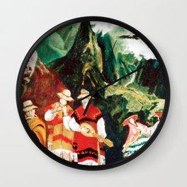 Machu Picchu  Folk                          by Kay Lipton Wall Clock