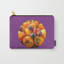 Round Persimmon Carry-All Pouch