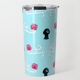 Squid in Love with the Jellyfish - Pattern Travel Mug