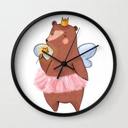 Bear Tooth Fairy Wall Clock