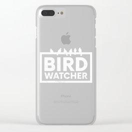 Bird Native Birds Bird Watcher Blackbird Gift Clear iPhone Case