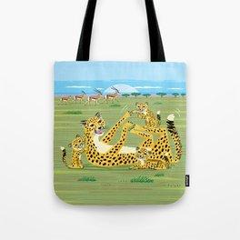 Cheetahs and Gazelles Tote Bag