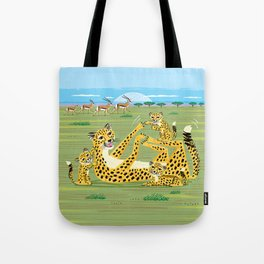 Cheetahs and Gazelles Tote Bag