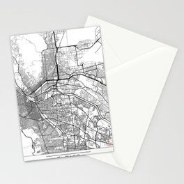 El Paso Map White Stationery Cards