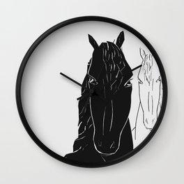 Horse couple Wall Clock