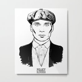 Peaky Blinders Tommy Shelby Metal Print