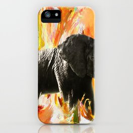 African Elephant - Happy Trails iPhone Case