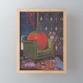 Therapy With A Tomato Milton Glaser - Tomato- Something unusual is going on here - 1978 Framed Mini Art Print