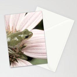 Treefrog on flower Stationery Cards