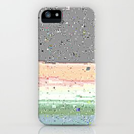 Grey Glitches iPhone Case