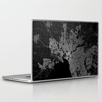 melbourne Laptop & iPad Skins featuring Melbourne map Australia by Line Line Lines