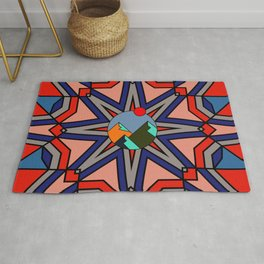 Geometric patterns in the trending colors Rug