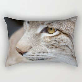 Young lynx close-up portrait Rectangular Pillow