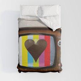 I Love TV vintage poster Comforters
