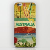 australia iPhone & iPod Skins featuring Australia by LilianaPerez