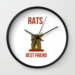 Cute Rats Are a Girl's Best Friend Wall Clock