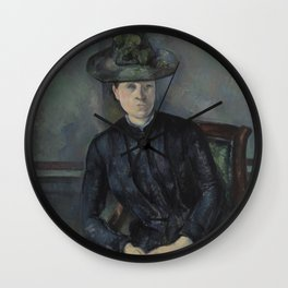Madame Cézanne with Green Hat Wall Clock
