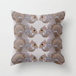 Squirrel Whispers Throw Pillow