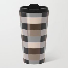 IKEA STOCKHOLM Rug Pattern - chequered, brown Travel Mug